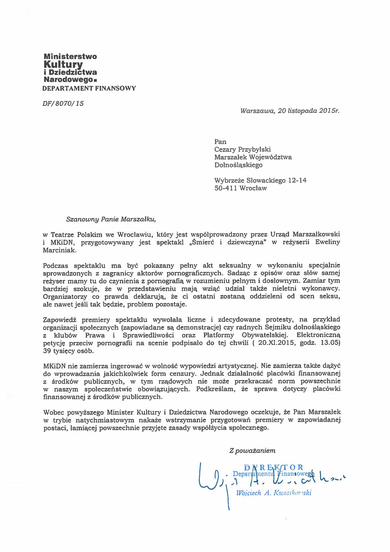 Skan stanowiska MKiDN