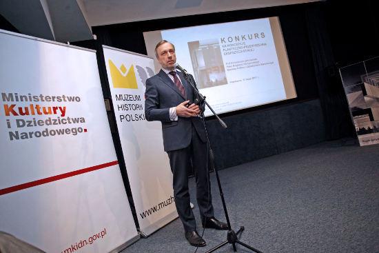 Minister kultury Bogdan Zdrojewski ogłasza konkurs na ekspozycję Muzeum Historii Polski