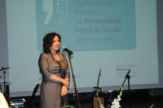 Wiceminister kultury Monika Smoleń ogłasza wyniki 17. Ogólnopolskiego Konkursu na Wystawienie Polskiej Sztuki Współczesnej