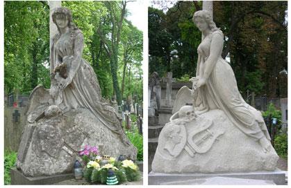 Nagrobek Artura Grottgera na Cmentarzu Łysakowskim we Lwowie