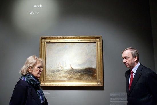 Minister kultury Bogdan Zdrojewski i dyrektor Muzeum Narodowego w Krakowie Zofia Gołubiew
