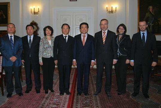 Spotkanie Ministra Bogdana Zdrojewskiego z dyrektorem generalnym w randze ministra z Państwowego Urzędu Radia Filmu i Telewizji Chin