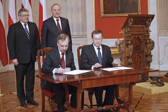 Przekazanie łotewskich zabytków