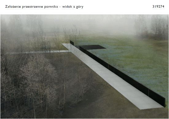 Projekt pomnika smoleńskiego, źródło www.mkidn.gov.pl