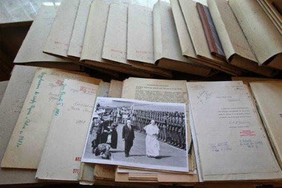 Listy Jana Pawła II z lat 1978-85 przekazane Archiwum Akt Nowych  PAP/Rafał Guz