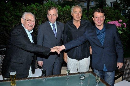 Wajda, Bogdan Zdrojewski, Janusz Głowacki i Robert Więckiewicz / Fot. AKSON STUDIO