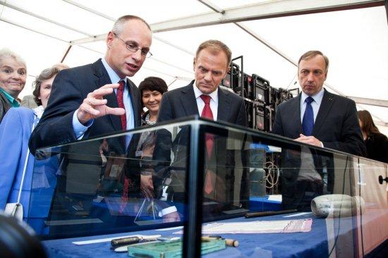Wmurowanie kamienia węgielnego pod budowę Muzeum II Wojny Światowej /fot. Tomasz Kamiński/