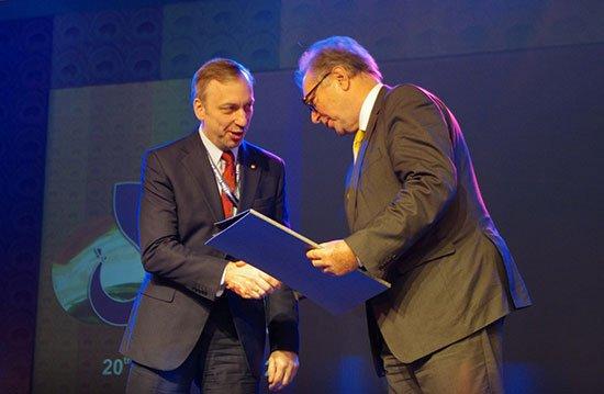 Minister Zdrojewski i Krzysztof Zanussi podczas Festiwalu Filmowego w Goa