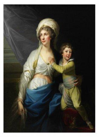 Anna Teresa z Ossolińskich Potocka z wnukiem Alfredem. Jan Chrzciciel Lampicki
