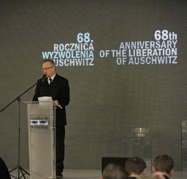 Tomasz Pielesz. PMA-B Uroczystości 68. rocznicy wyzwolenia Auschwitz