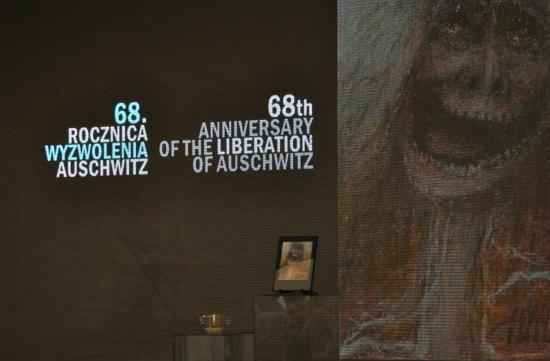 Paweł Sawicki Uroczystości 68. rocznicy wyzwolenia Auschwitz
