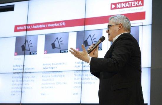 Konferencja prasowa poświęcona udostępnieniu najcenniejszych zasobów polskiej kultury za pomocą aplikacji multimedialnych