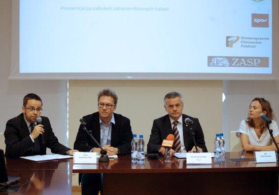 Konferencja prasowa  wspólna tabela stawek organizacji zbiorowego zarządzania prawami autorskimi i prawami pokrewnymi w zakresie odtwarzania