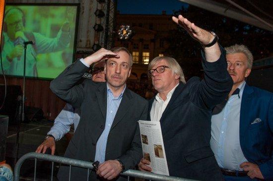 Minister Bogdan Zdrojewski z wizytą na Festivalu Malta w Poznaniu. fot. Maciej Zakrzewski/malta-festival.pl