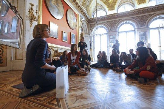 Dzieci podczas lekcji muzealnych fot. Danuta Matloch/MKiDN