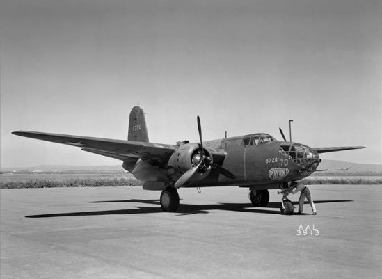 Douglas A-20A at NACA 1943. By NACA [Public domain],