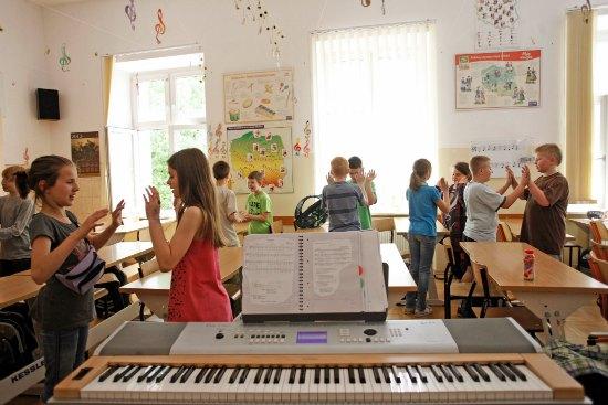 Lekcja muzyki. fot. Danuta Matloch