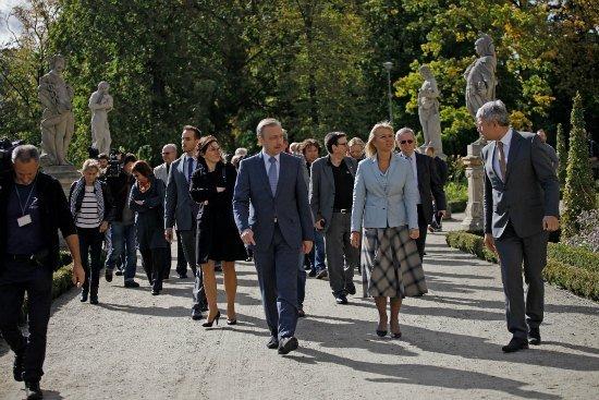 Uroczyste otwarcie po rewitalizacji ogrodów Pałacu w Wilanowie