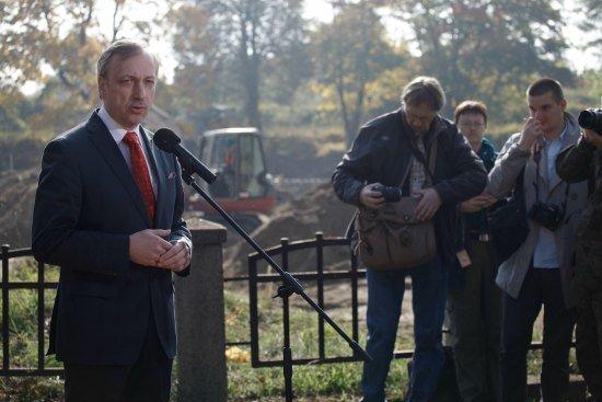 Minister Bogdan Zdrojewski podczas konferencji fot. Danuta Matloch