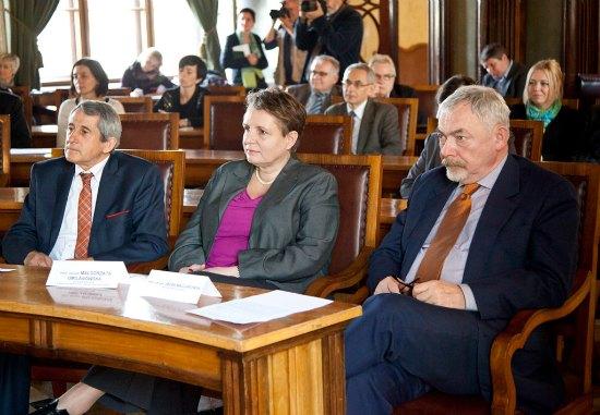 Konferencja prasowa w sali obrad Rady Miasta Krakowa. Fot. Anna Seweryn