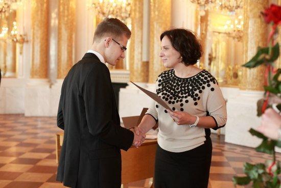 Wiceminister Monika Smoleń podczas uroczystości. fot. Jacek Łagowski/MKiDN