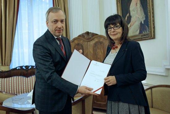 Profesor Katarzyna Popowa - Zydroń. fot.: Danuta Matloch