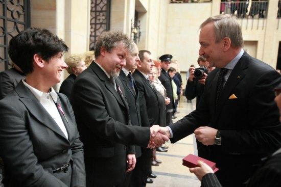 Pracownicy Muzeum Narodowego w Warszawie nagrodzeni przez ministra Bogdana Zdrojewskiego. fot.: Jacek Łagowski
