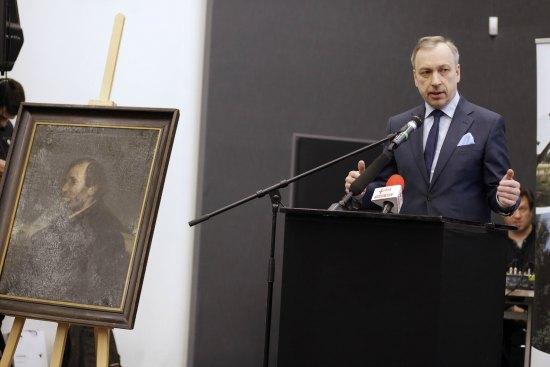 Minister Bogdan Zdrojewski podczas konferencji prasowej fot. Danuta Matloch/MKiDN