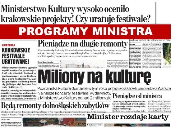 Infografika Programy Ministra na rok 2014