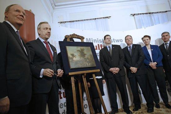 Uroczystość przekazania obrazu do Muzeum Narodowego w Warszawie. fot. Danuta Matloch