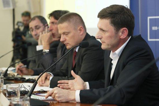 Konferencja zapowiadająca Freedom Express z udziałem Podsekretarza Stanu w MKiDN, Andrzeja Wyrobca. fot. K. Żuczek