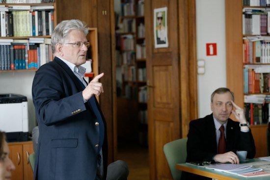 Minister Bogdan Zdrojewski w Instytucie Książki. Fot. Danuta Matloch
