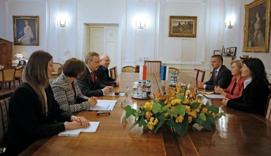 Spotkanie ministra Bogdana Zdrojewskiego z Minister Kultury Republiki Estonii Urve Tiidus. fot. Danuta Matloch