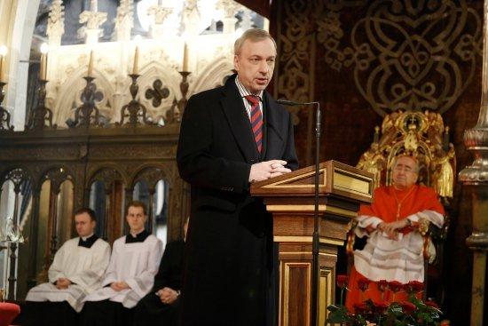 Minister Bogdan Zdrojewski na Wawelu. Fot. Danuta Matloch