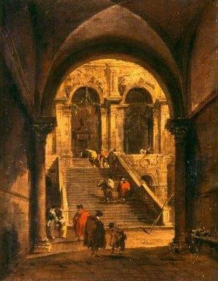 Schody pałacowe Francesco Guardiego