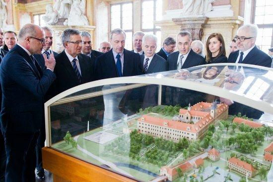 Wizyta w opactwie pocysterskim w Lubiążu. Fot.: Łukasz Kamiński
