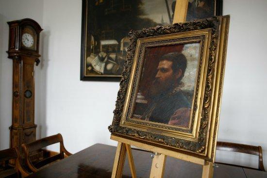 Oficjalne przekazanie obrazu Aleksandra Gierymskiego do Muzeum Narodowego w Warszawie. fot. Danuta Matloch