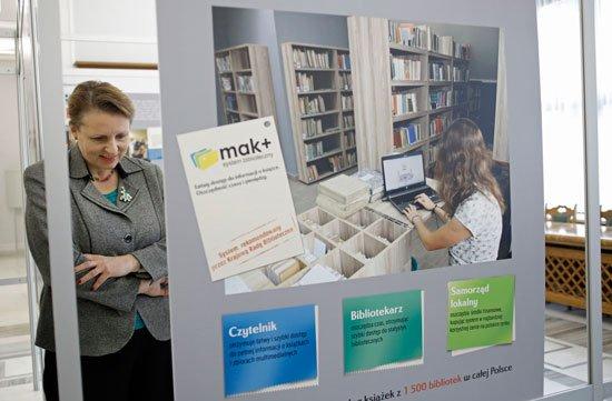 Otwarcie wystawy w sejmie Biblioteka najlepsza inwestycja. Fot. Danuta Matloch