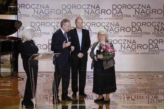 Uroczystość wręczenia Dorocznych Nagród Ministra Kultury i Dziedzictwa Narodowego. fot. Danuta Matloch