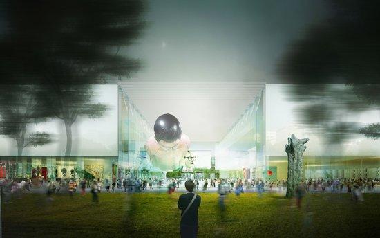 Wizualizacja przyszłego zespołu budynków na stołecznym placu Defilad.
