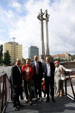 Wizyta minister Omilanowskiej w Europejskim Centrum Solidarności. fot. Danuta Matloch