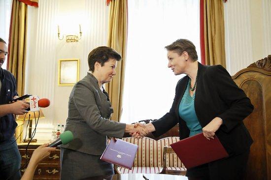 Podpisanie umowy na modernizację Muzeum Warszawy. fot. K. Żuczek