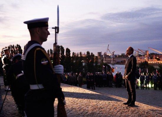 Uroczystości upamiętniające 75. rocznicę wybuchu II wojny światowej na Westerplatte Foto: PAP/Adam Warżawa