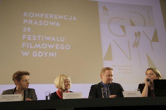 Prezentacja programu 39. Festiwalu Filmowego w Gdyni. fot. K. Żuczek