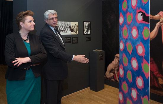 Minister Małgorzata Omilanowska na otwarciu wystawy Mit Galicji w MCK w Krakowie. Fot.: Paweł Mazur
