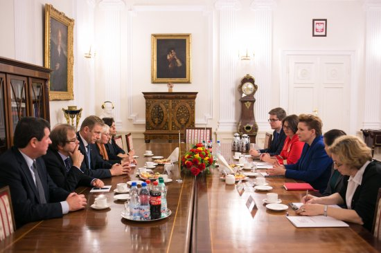 Wizyta Ministra Kultury Litwy Šarūnasa Birutisa w Polsce. Fot.: Danuta Matloch