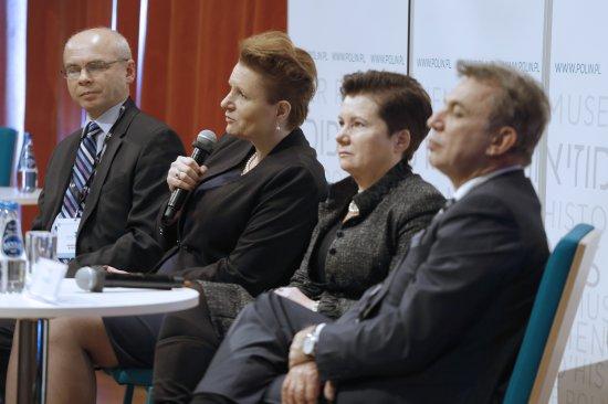 Konferecja prasowa z okazji otwarcia wystawy stałej w Muzeum Historii Żydów Polskich. Fot. Danuta Matloch