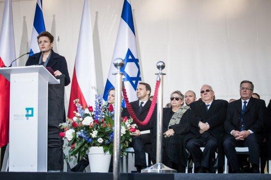 Otwarcie wystawy stałej w Muzeum Historii Żydów Polskich. fot. M. Starowieyska / Muzeum Historii Żydów Polskich POLIN