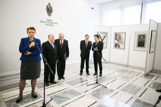 Otwarcie wystawy w gmachu Senatu RP Pomiędzy Polską a Japonią – 20 lat Muzeum Manggha. fot. Danuta Matloch