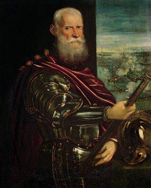 Obraz Tintoretto,  Portret Sebastiano Veniera,  admirała floty weneckiej,  (fot. Pracownia Fotograficzna MNK)